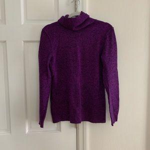 Purple Heather Cashmere Sweater, Size M